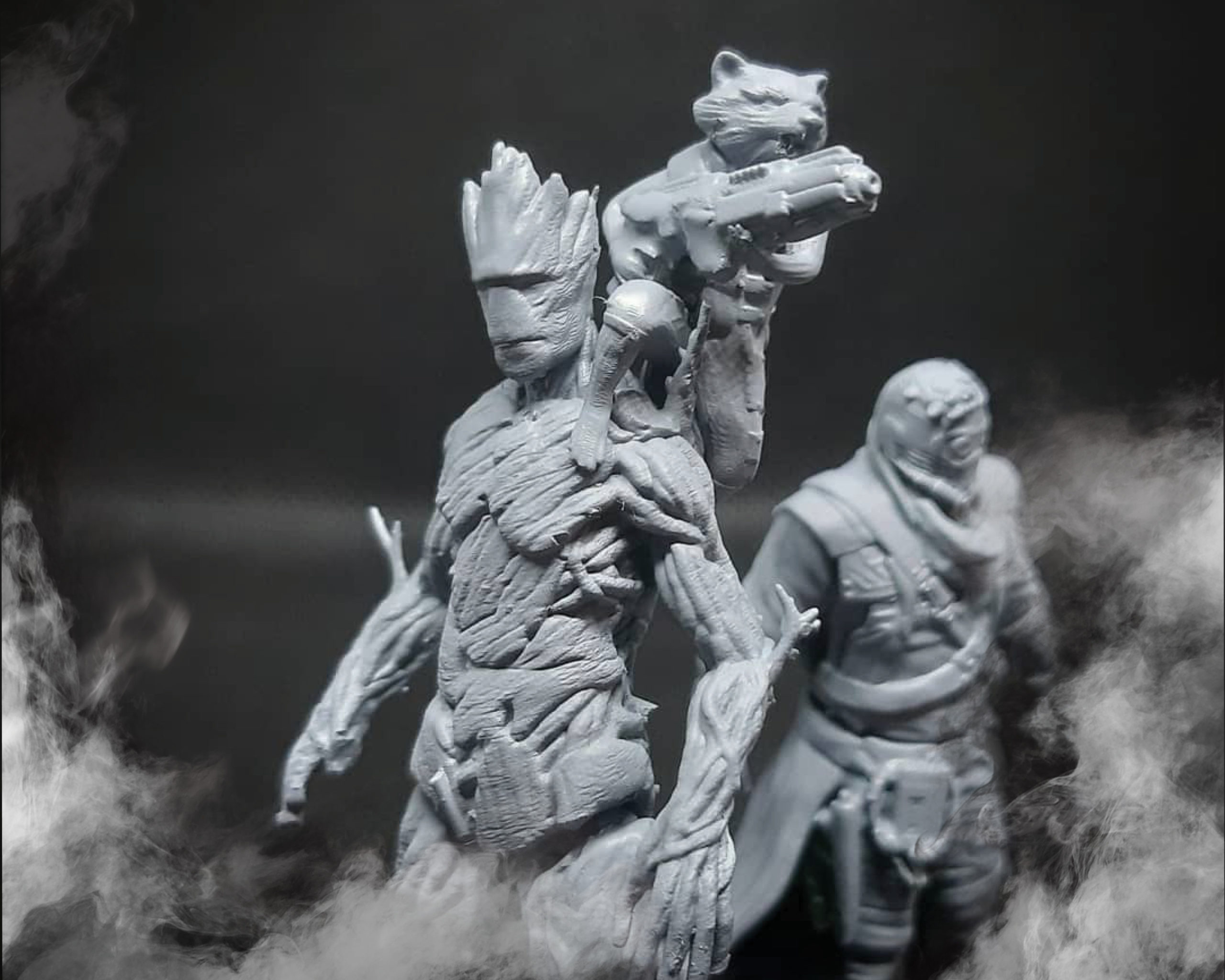 3D printed action figures Marvel Guardians of the Galaxy